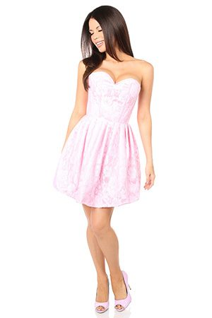 empire waist corset dress for tightlacing at