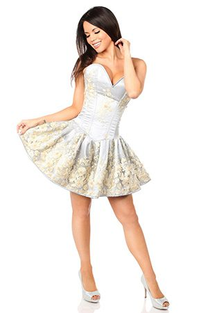 short corset dress for tightlacing at thebreastformstore
